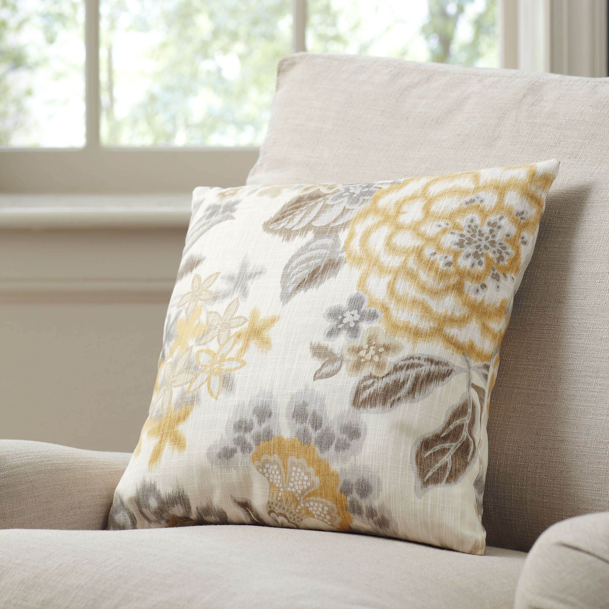 Marguerite Cotton Pillow Cover | Makes a striking accent to any seating area or pairs beautifully with the Marguerite Duvet set. 100 percent cotton. Hidden zipper closure.