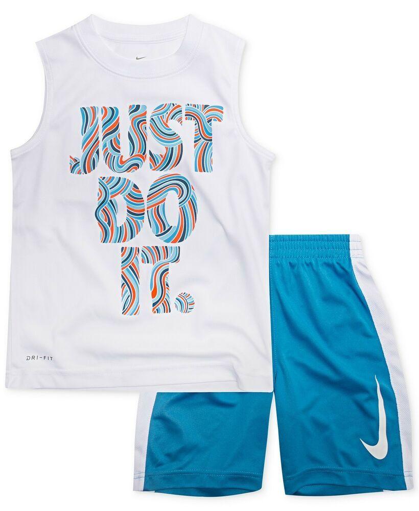940fd18edd Boy Nike Performance Just Do It Muscle Tee Shorts Set Kids size 5-6 NEW # Nike #Everyday
