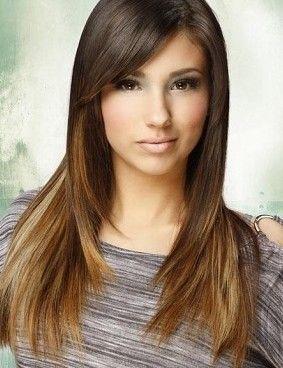 Long Bangs Hairstyles Long Brown Hair Highlights Hairstyles Long Brown Hair Highlights