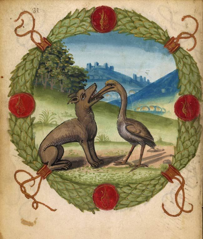 Wolf and Crane | Fables and other poems | France | ca. 1515 | The Morgan Library…