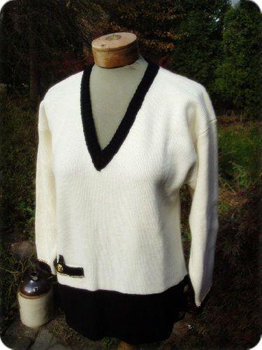 Vintage 80s Preppy Classic Chain Accent Tunic Knit Sweater M L | eBay