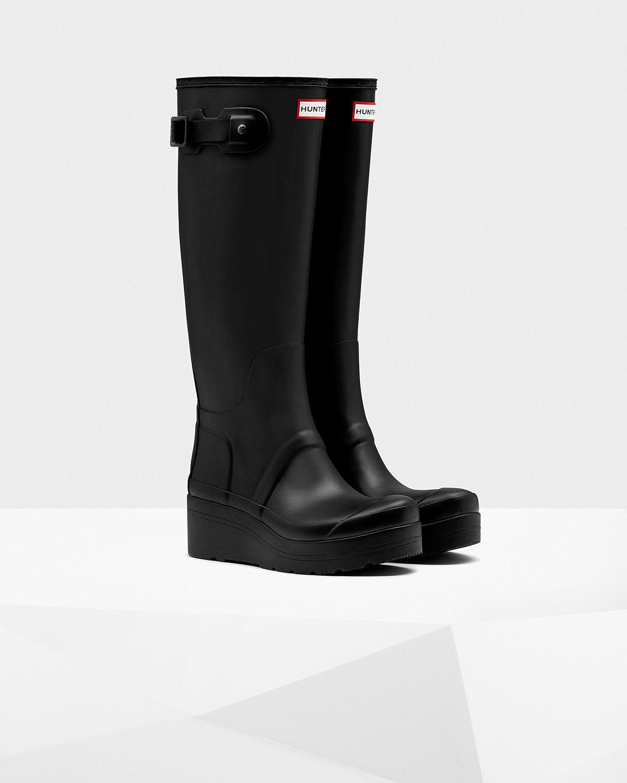 80a2eed33de Women's Original Low Wedge Wellington Boots   Official Hunter Boots ...