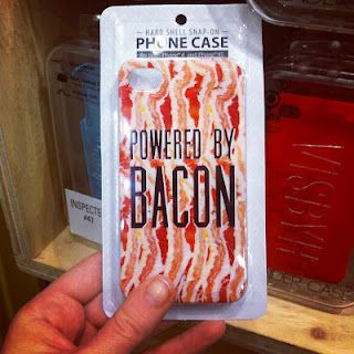 If I looked in my bag, and my phone had that cover, I would probably freaked out that I had bacon in my purse!