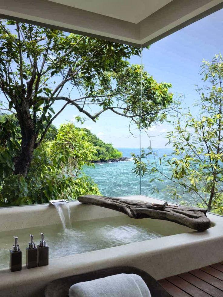 BAdezimmer, fototapete, KAribik 3d wall Pinterest Ocean view - fototapete für badezimmer