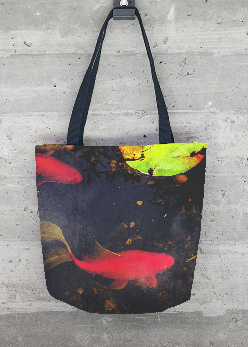 VIDA Tote Bag - Koi Pond by VIDA ZuMbmCYe
