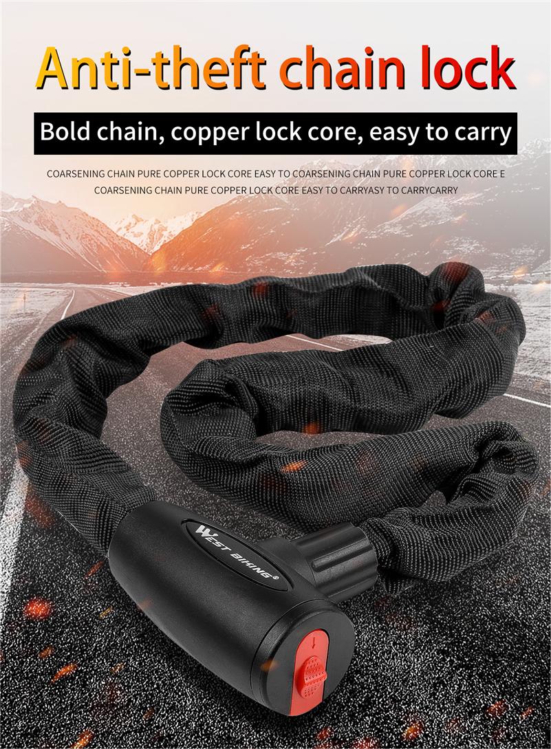 U Lock Bicycle Bike Motorcycle Cycling Scooter Security Steel Chain with 2 KeySJ