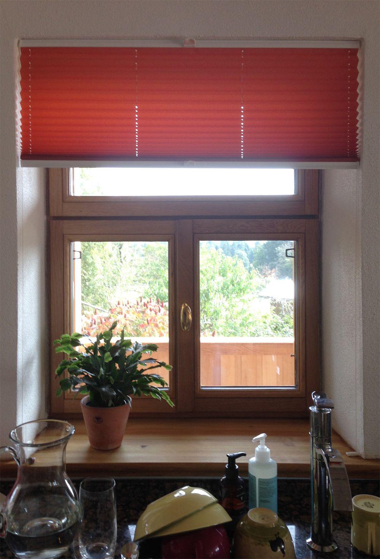 k chen plissees nach ma gefertigt ein kundenbild k che pinterest plissee k che und. Black Bedroom Furniture Sets. Home Design Ideas