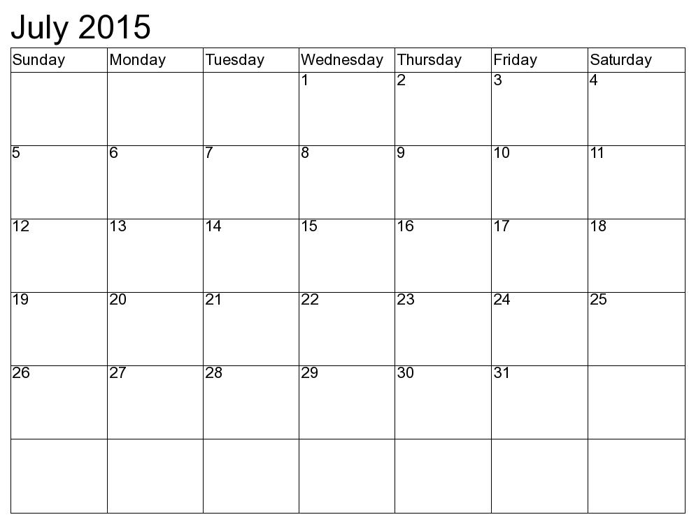 Calendar July 2015 Template Printable July 2015 Calendar Template June Calendar Printable January Calendar Calendar May