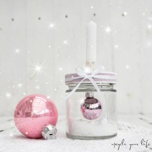 mini-weihnachtskugel im glas... #bouledenoel