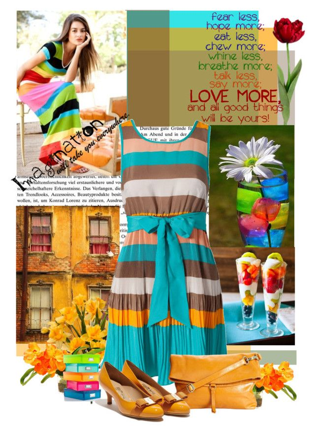 """""""Colourful"""" by jyoti-roy ❤ liked on Polyvore featuring The French Bee, VILA, Whitmor and Latico"""