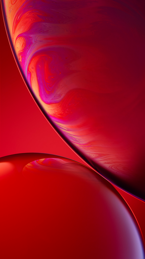 Download Original Apple iPhone XR Wallpaper 06 Red