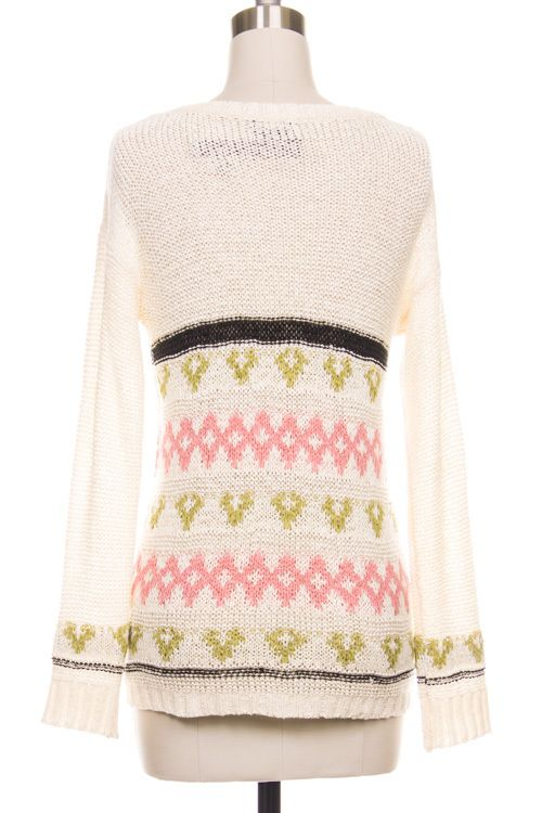 Style Says Shop - Color Me Pretty Oversized Sweater - Pink/Beige ...