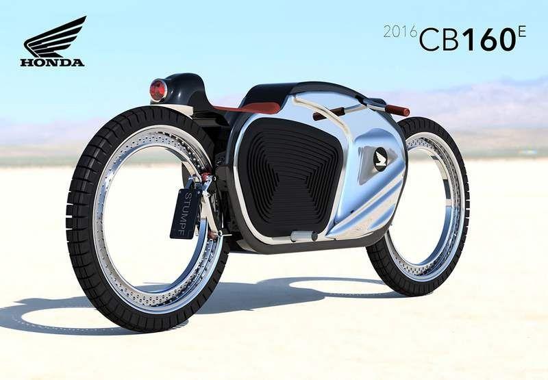 Honda Cb160e Motorbike Wordlesstech Concept Motorcycles Honda Bike Sketch