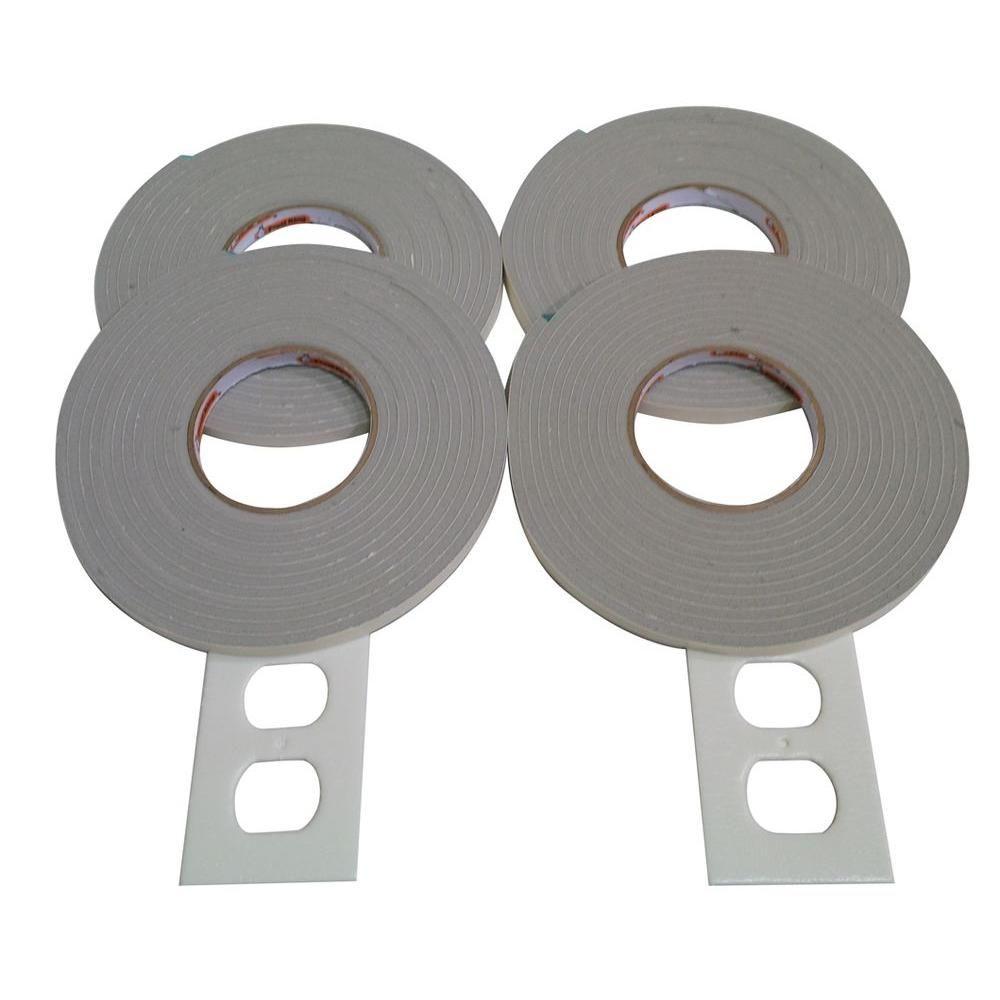 E O 3 8 In X 17 Ft Vinyl Foam Weatherseal Self Stick Tape 4 Pack Grey Window Insulation Kit Weather Seal Stick Tape
