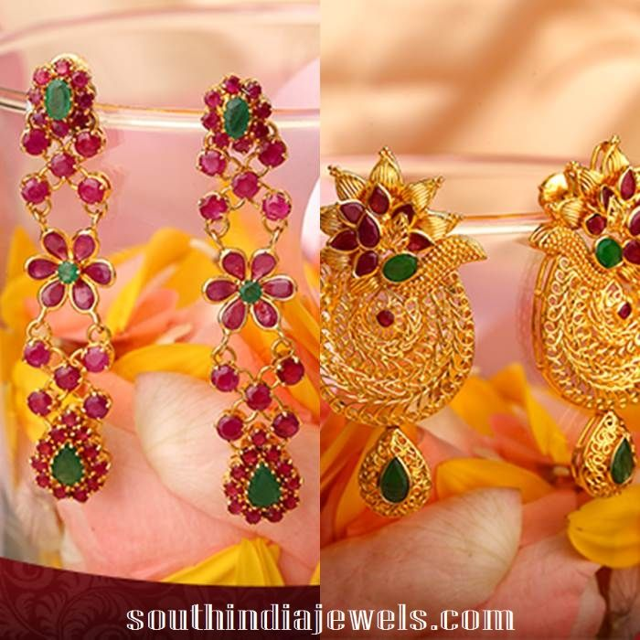 Latest Gold Earring Designs From Kalyan Jewellers | Gold earrings ...