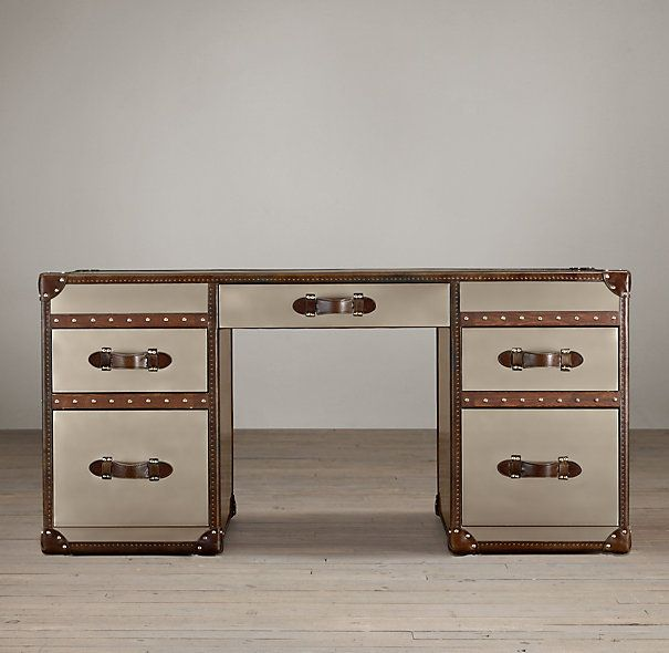 mayfair steamer trunk 5drawer desk
