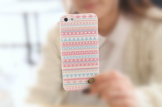 Pink Folk Style Pattern iPhone 5/5S Slim Hard Clear by ATHiNGZ, $9.99