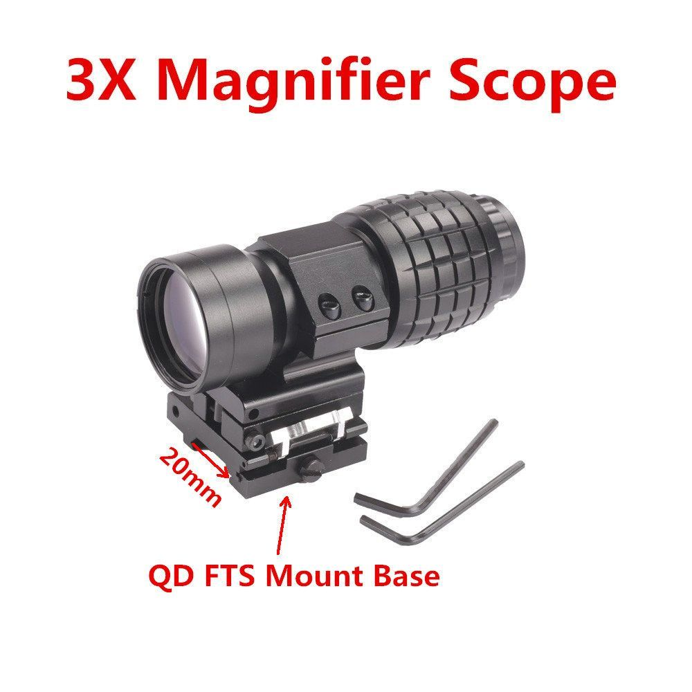 Tactical 3X Quick Release Scope Magnifier