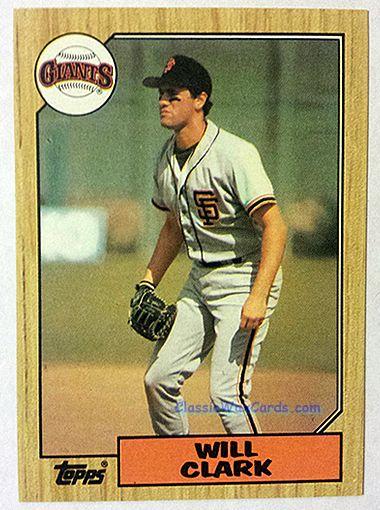 1987 Topps Will Clark Baseball Card 1987 Topps Baseball Cards