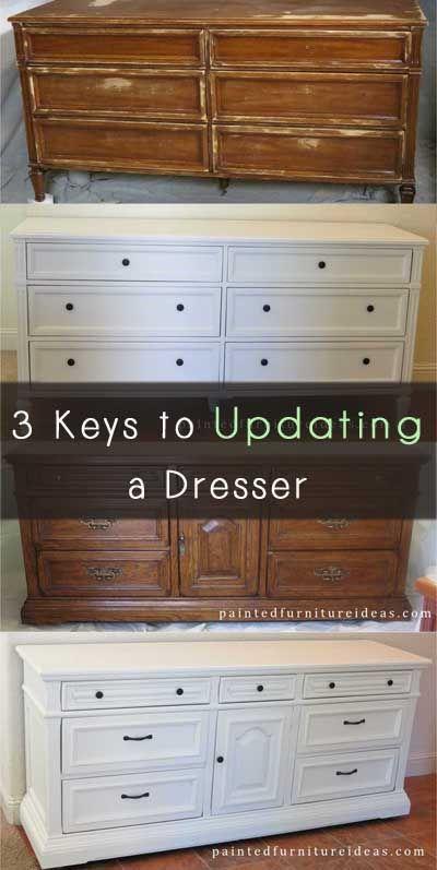 3 Keys To Updating A Dresser Painted Furniture Ideas Mobel Restaurieren Mobelverschonerung Upcycling