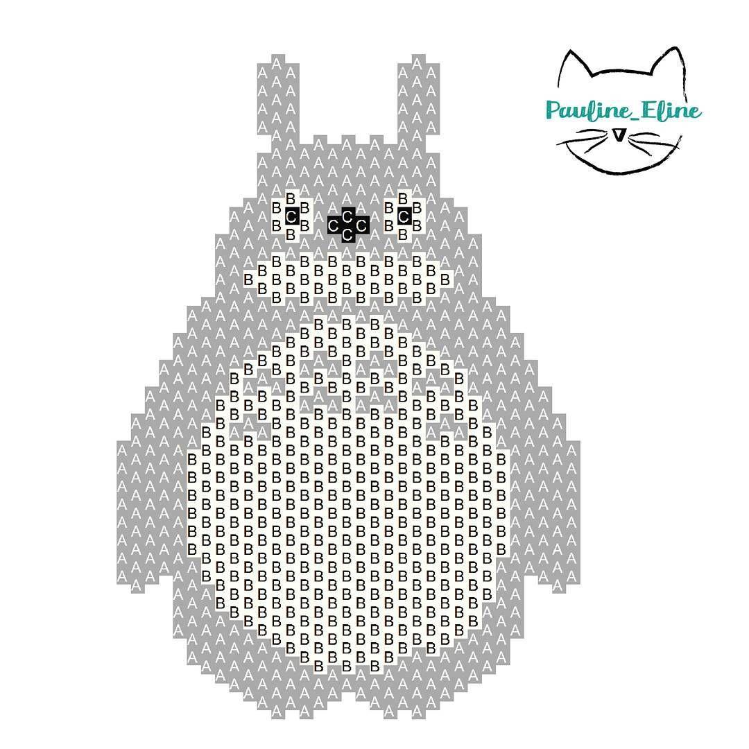 Totoro Brick Stitch Pattern