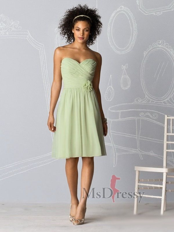 Gorgeous in green bridesmaid dress