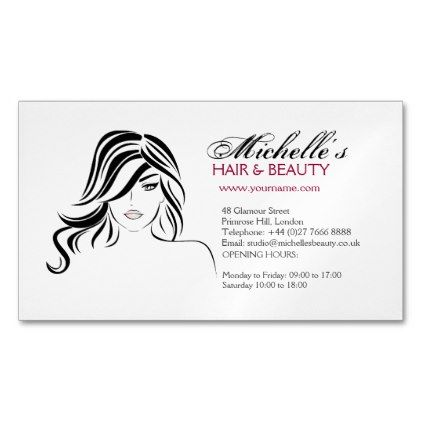 Makeupartist Businesscards Lovely With Wavy Hair And Makeup Icon Magnetic Business