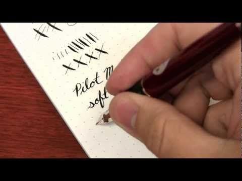 Pilot metal falcon soft extra fine ink nouveau pens inks wells