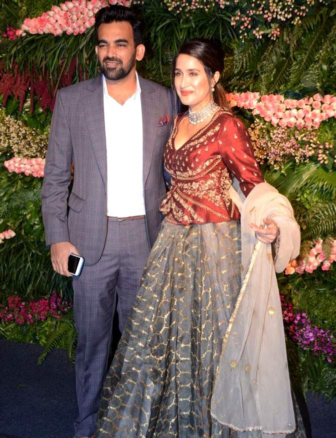 r Zaheer Khan with wife, Bollywood actress Sagarika Ghatge