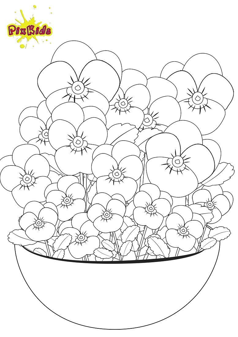 Ausmalbilder Frühling Kostenlos : Ausmalbild Und Malvorlage Stiefm Tterchen Basteln Pinterest