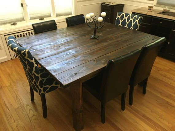 Farmhouse Dining Table With Decorative Bolt And Brackets  Rustic Extraordinary Dining Room Table Rustic Inspiration Design