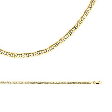 ebay chain flat grams yellow p anchor mariner gold s necklace