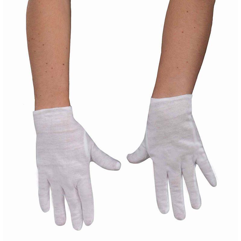 White Kids Gloves One Size