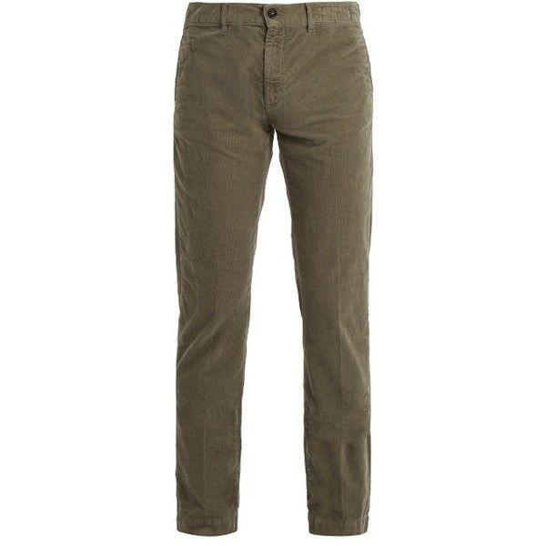 Massimo Alba Straight-leg corduroy trousers ($335) ❤ liked on Polyvore featuring men's fashion, men's clothing, men's pants, men's casual pants, green, mens green pants, mens straight leg cargo pants, mens green corduroy pants, mens corduroy pants and mens slim pants