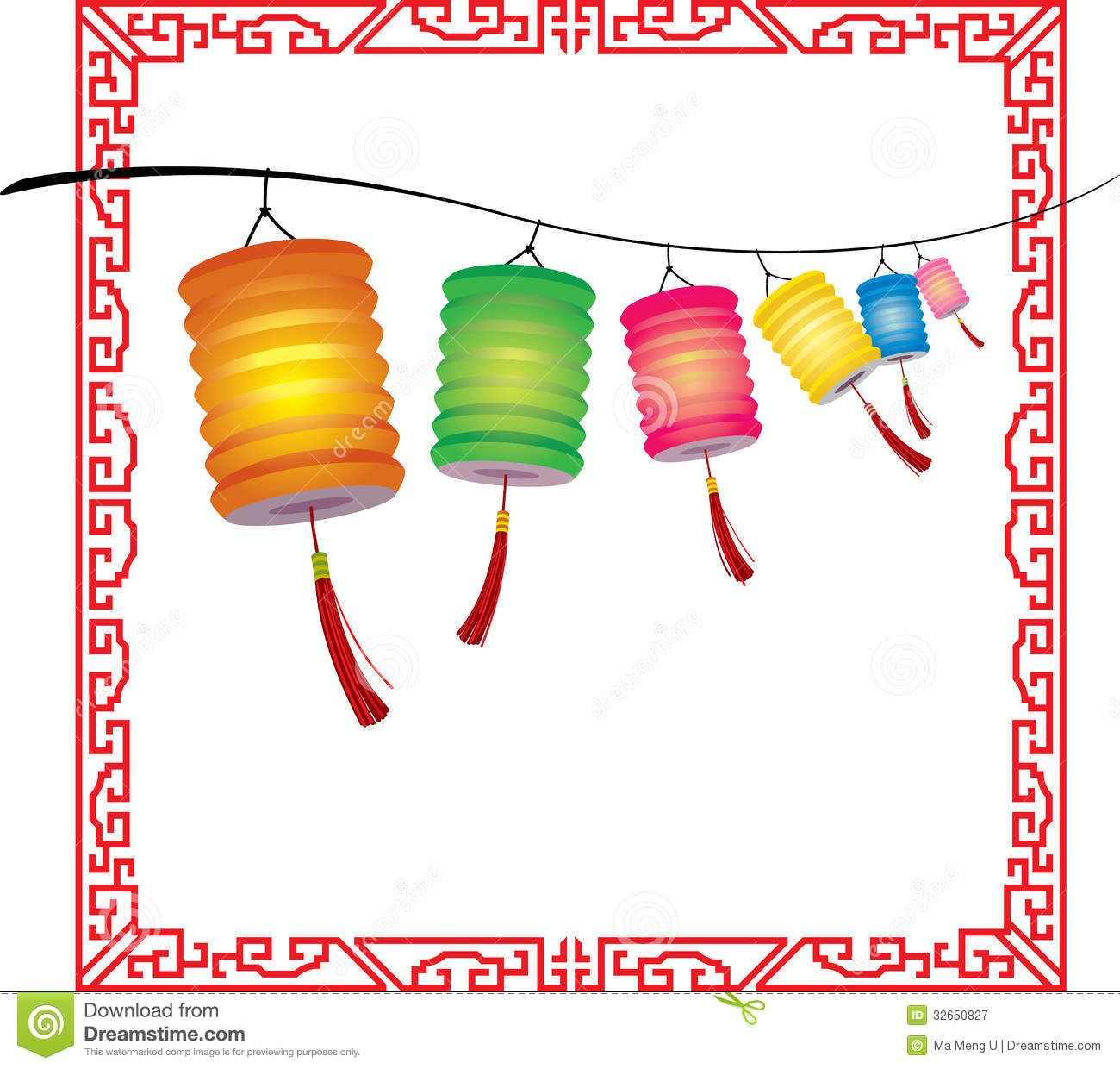 Clipart Images Clipart Lantern Festival String Of Bright Hanging Chinese Lanterns Decorati