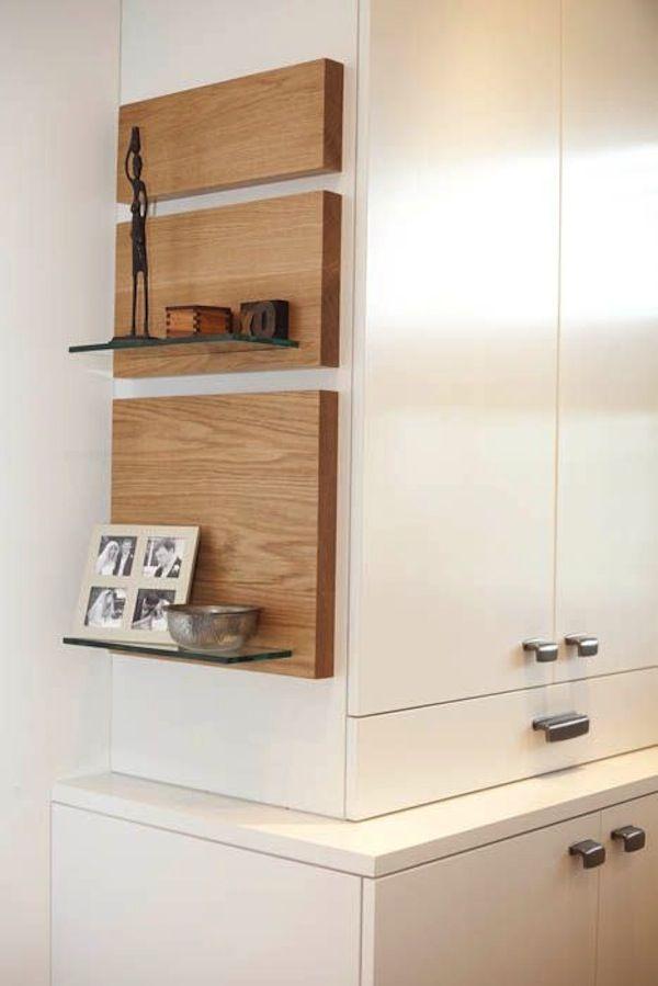 Glass Floating Shelves Glass And Oak Wood Floating Shelvesoriginally Postedfurniture