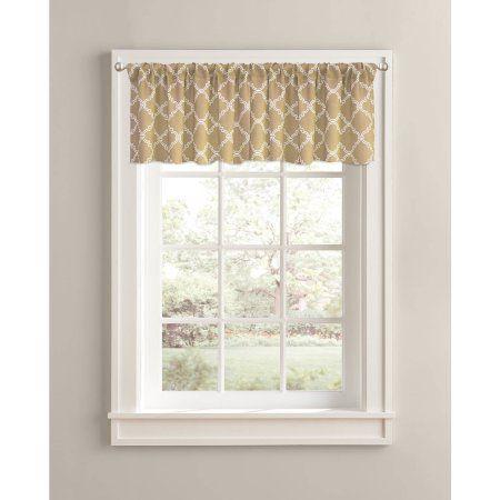 better homes and gardens trellis valance 60 inch x 14 inch rod rh pinterest com