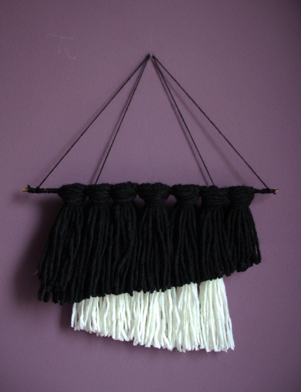 Arazzo boho da attaccare alle pareti di casa, scacciapensieri, wall hanging, fiber art di ilboscodeimerli su Etsy