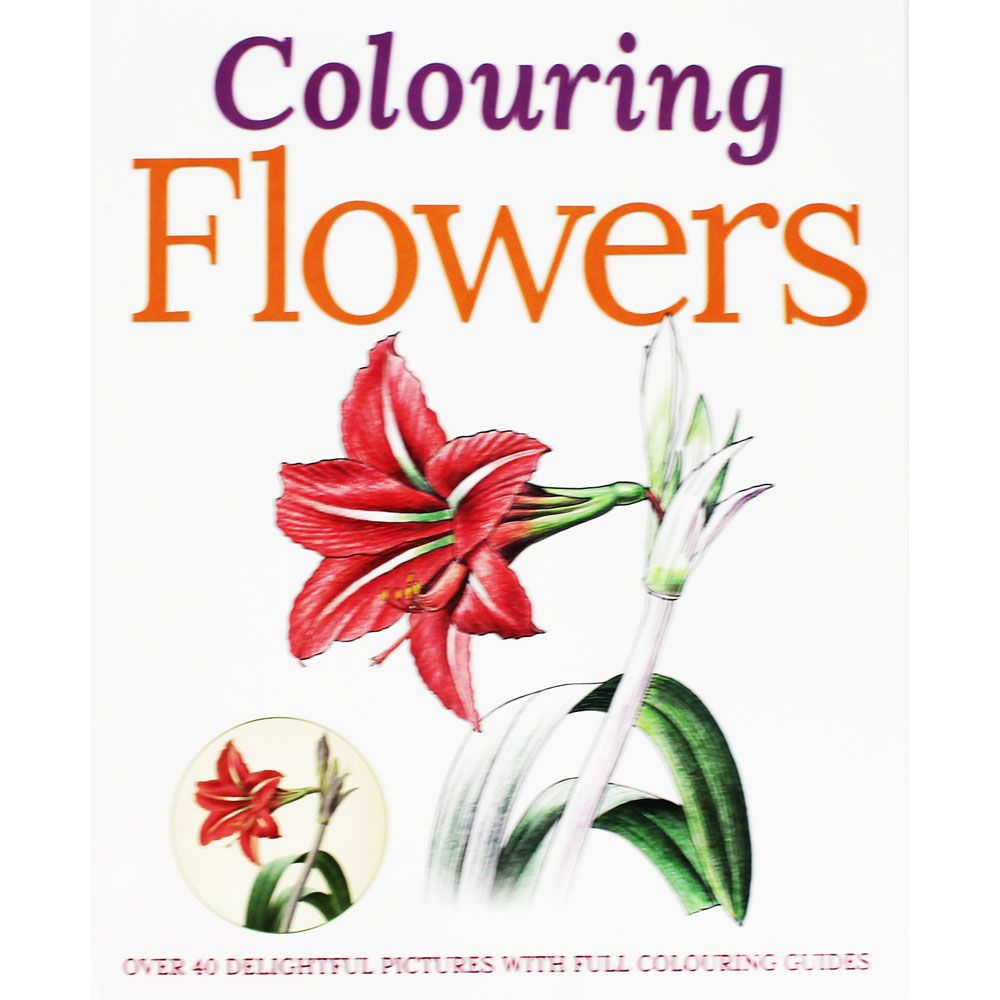 Colouring Flowers by Arcturus | Drawing Books at The Works | Art ...