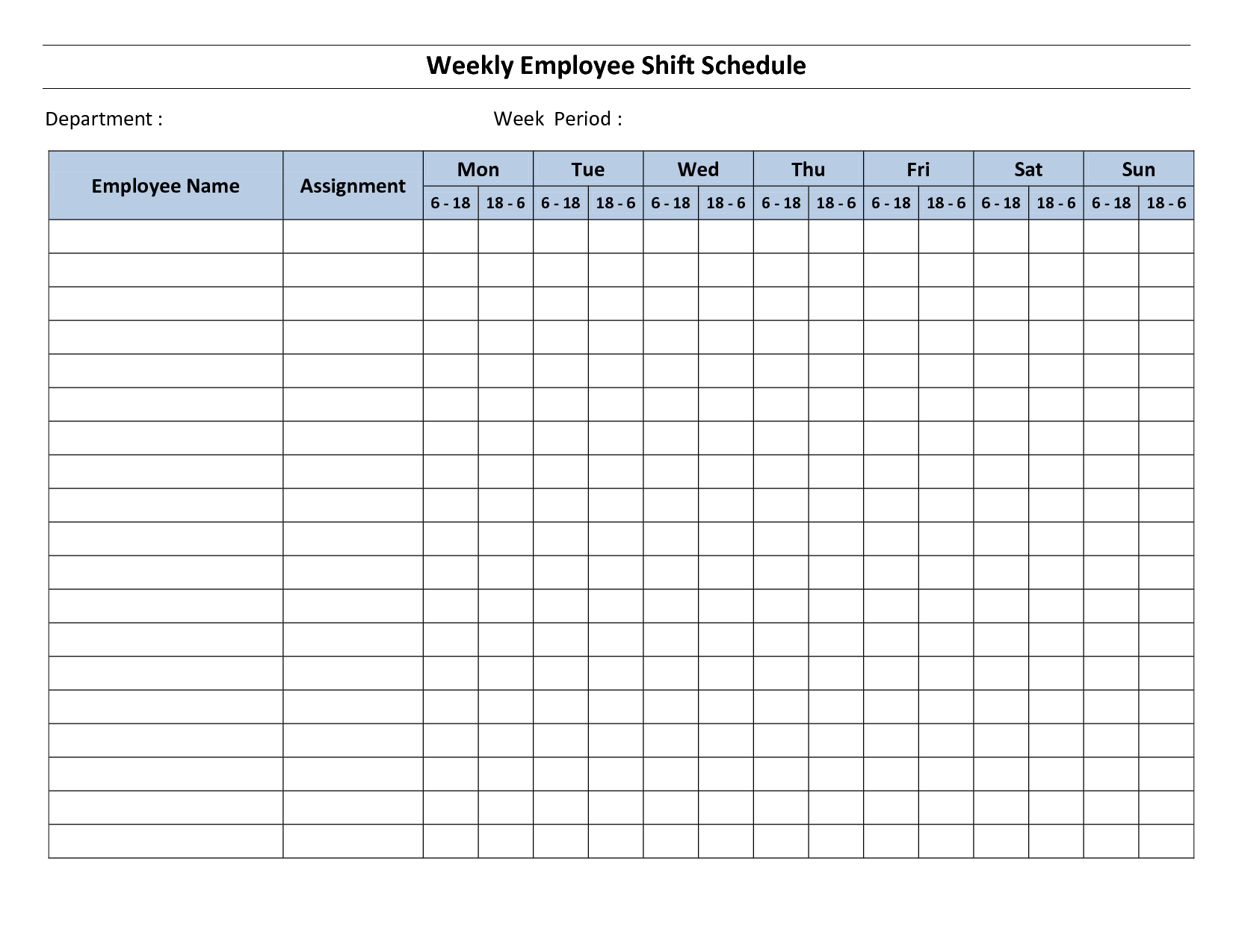 printable weekly employee schedule template mr bagel pinterest