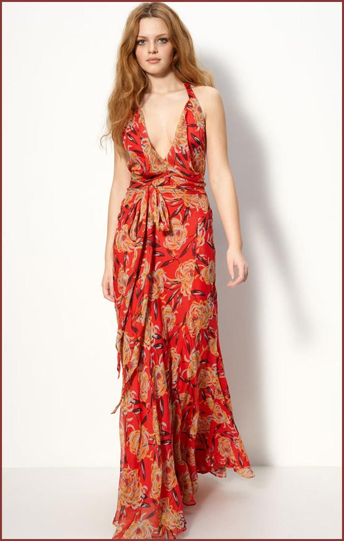 Floral Print Long Dress Photo Album - Reikian