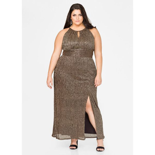 Ashley Stewart Metallic Special Occasion Gown Metallic Gold ($52 ...