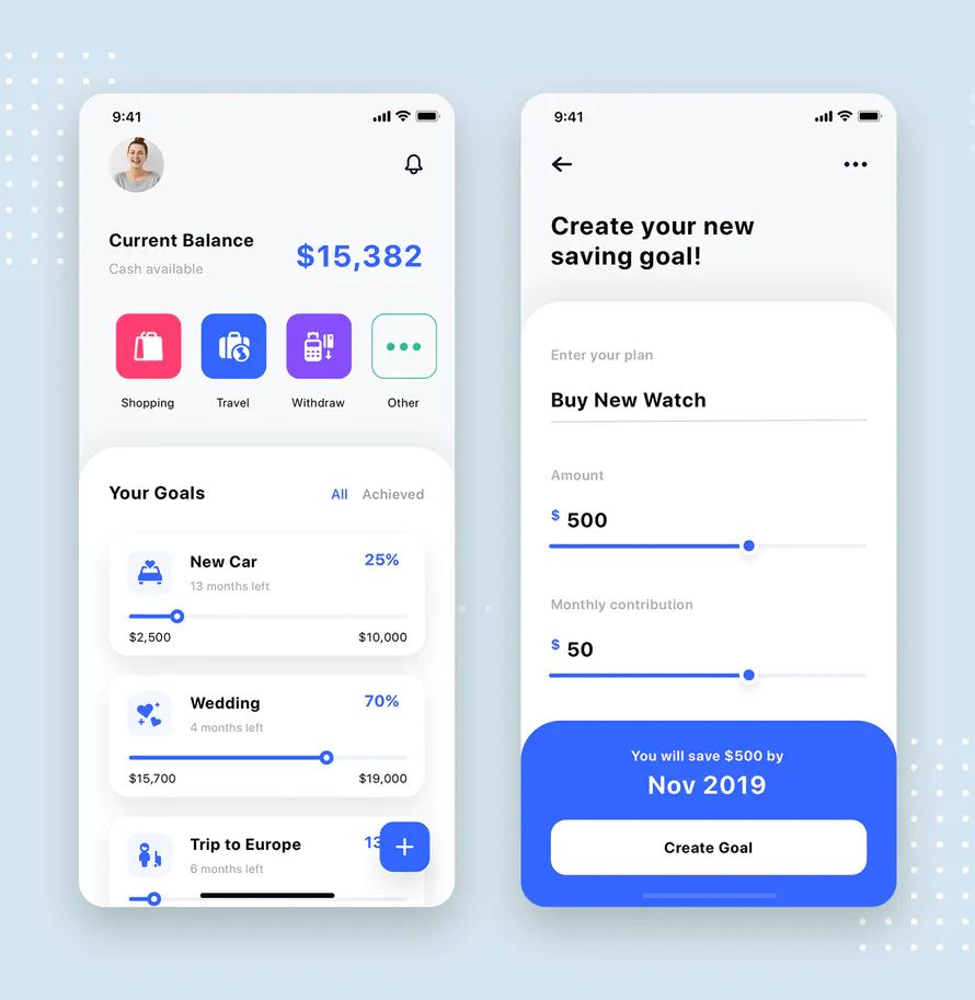 Expense Tracker Mobile App User Interface Template