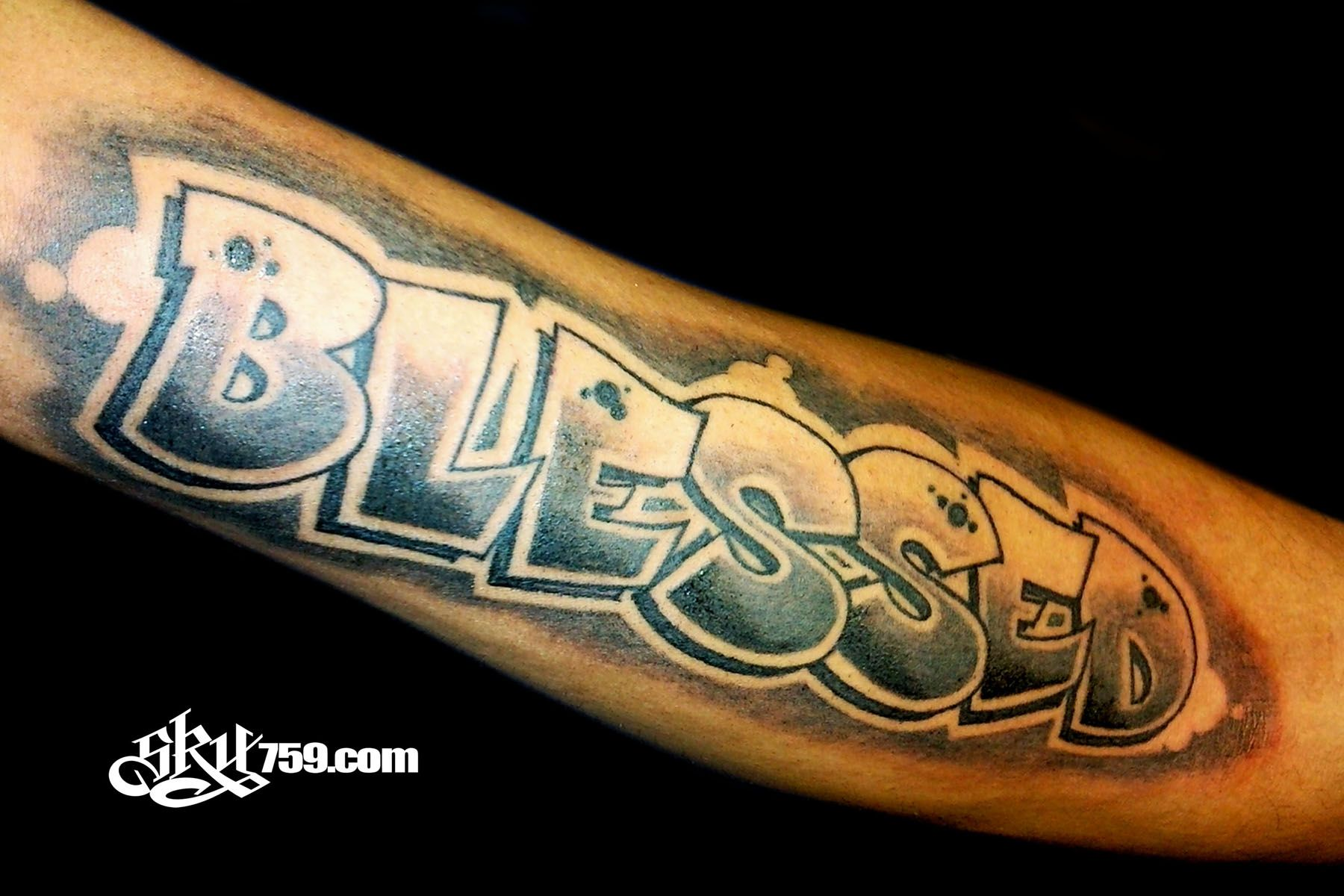 Blessed Tattoo Designs Pin Truly Blessed Tattoo On Chest On Pinterest Blessed Tattoo On Chest Blessed Tattoos Tattoo Designs