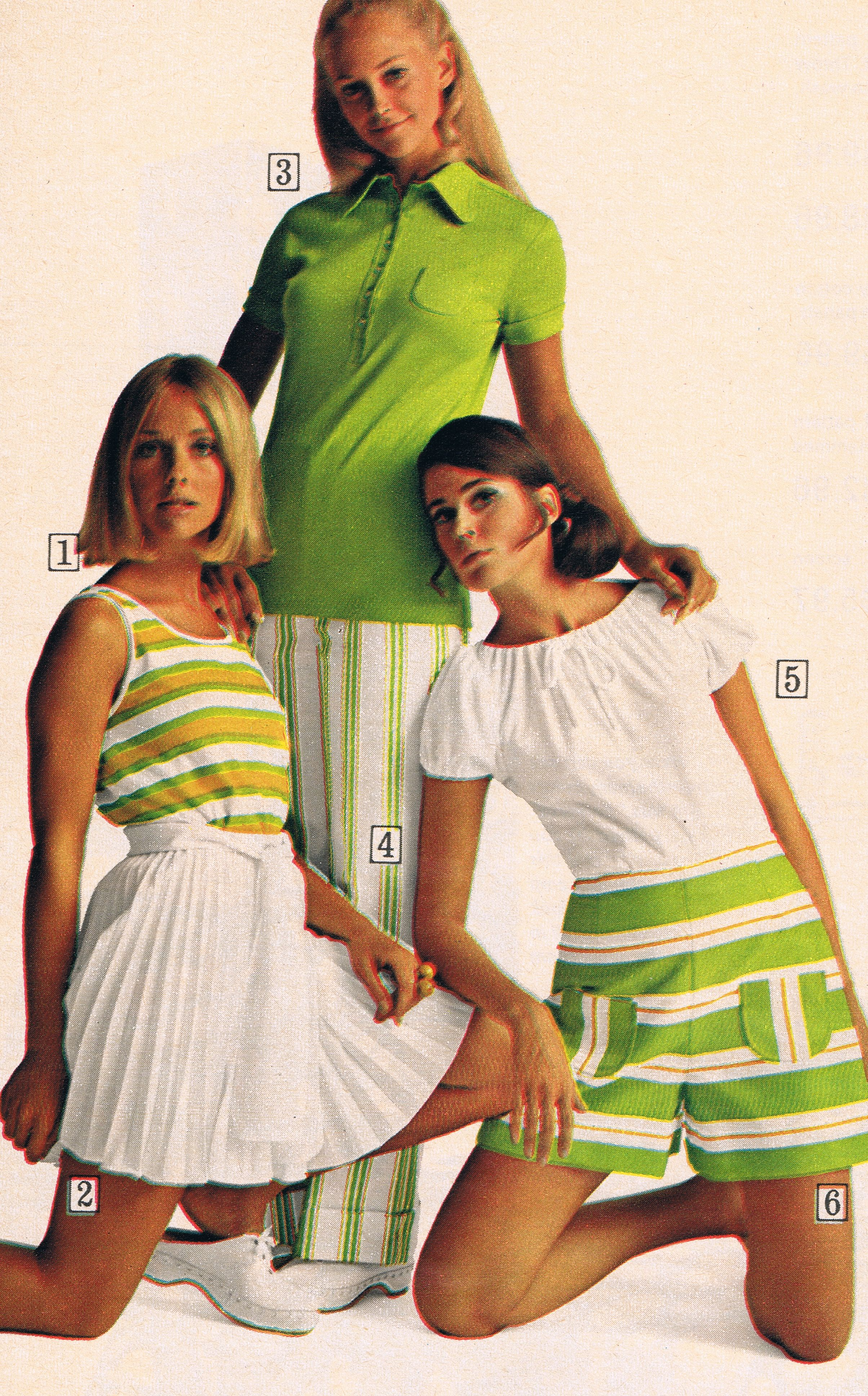 c14f599a Sears catalog 1970 - Cay Sanderson, unknown model and Colleen Corby ...