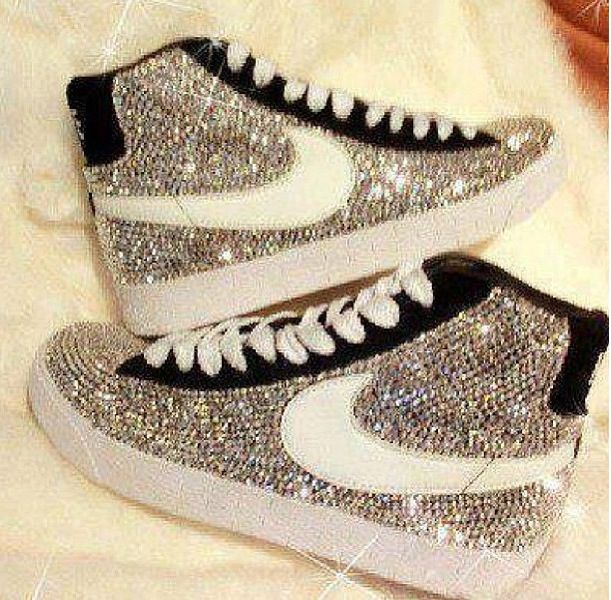 Nike sneakers with glitter!