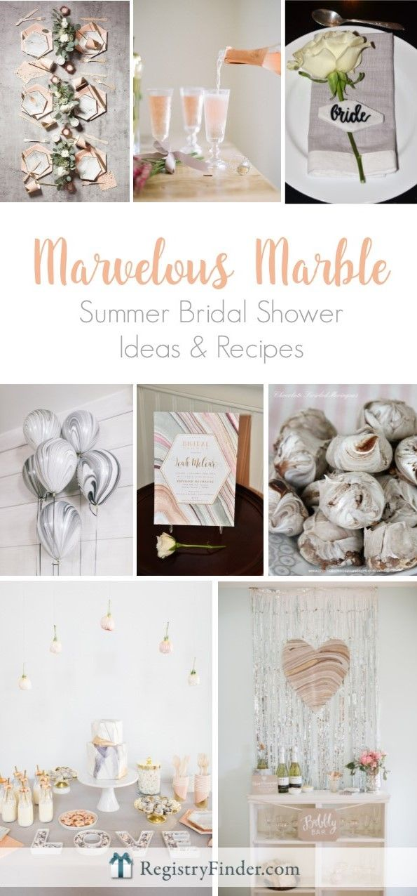 marvelous marble summer bridal shower theme ideas and recipes from registryfindercom