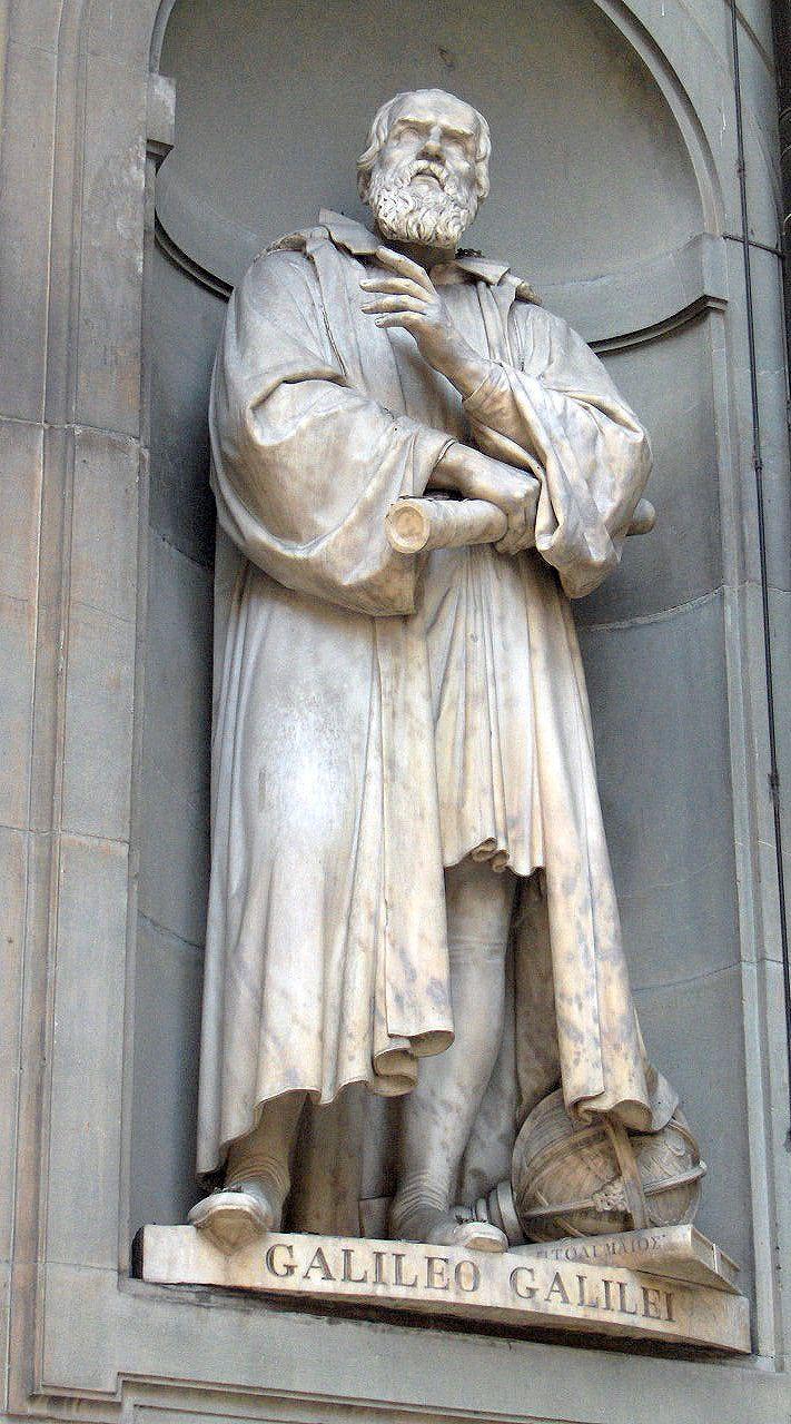 Galileo Galilei Statue Outside Of Uffizi Florence