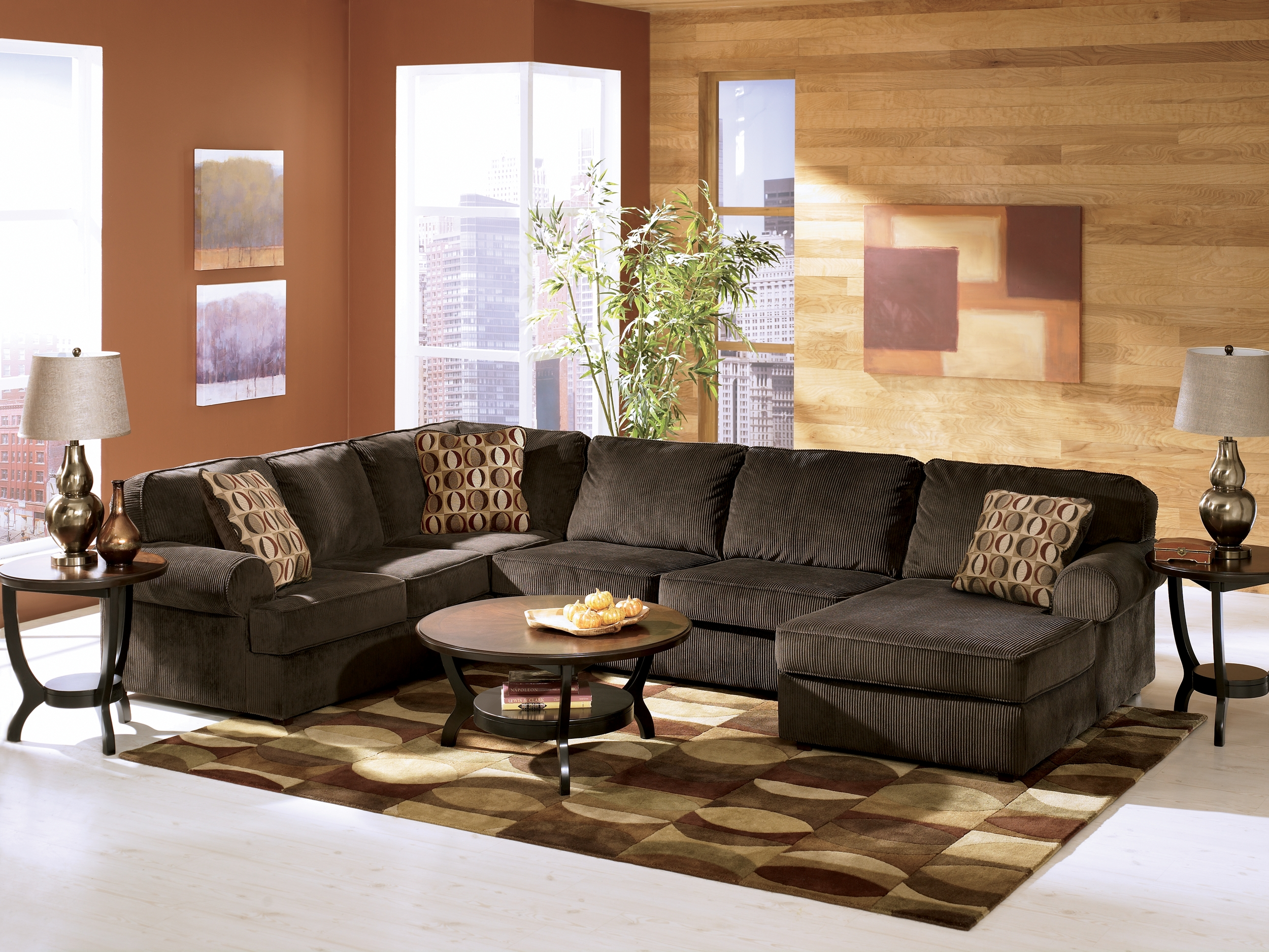 Vista 3 Piece Sectional With Chaise Living Room Sets Ashley