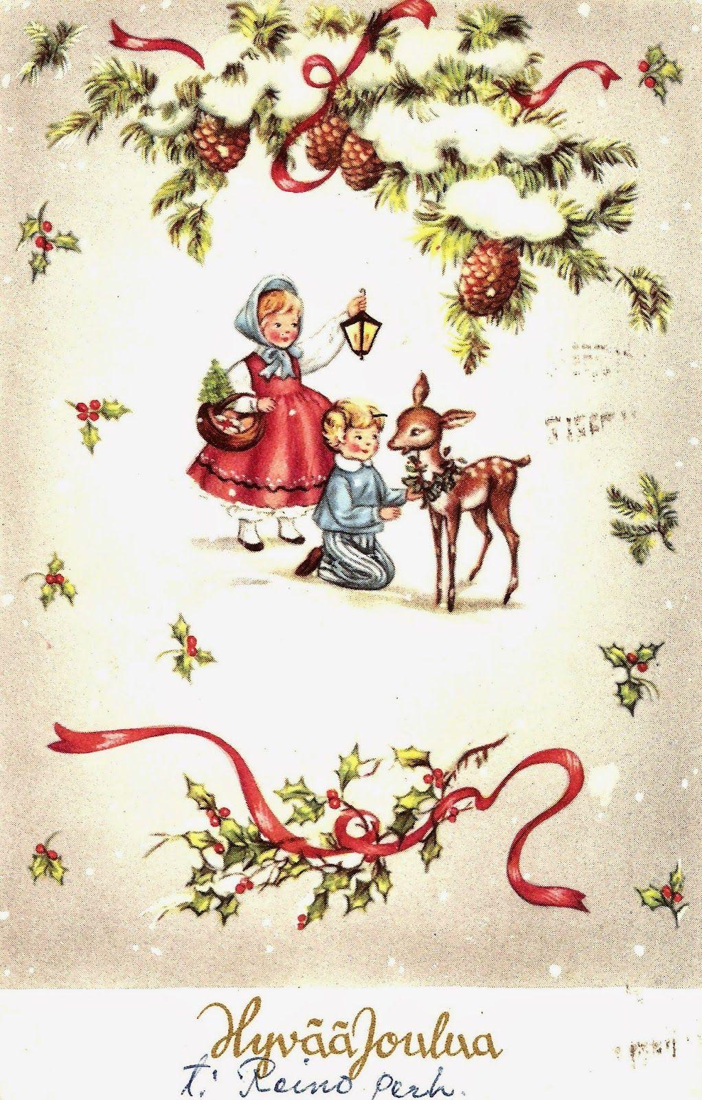 Kirjeitä myllyltäni: vanhoja joulukortteja